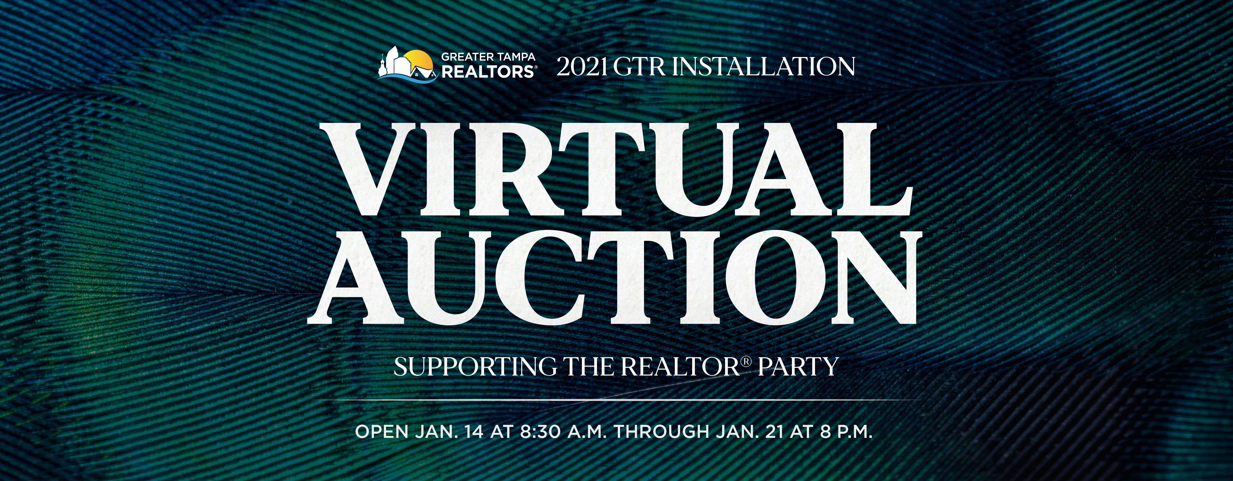 2021 GTR installation virtual auction. Supporting the Realtors party begins on Jan. 14 at 8:30 a.m. through Jan. 21 at 8 p.m.