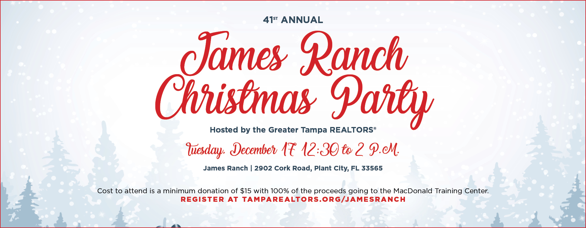 41st Annual James Ranch Christmas Party, sign up today.