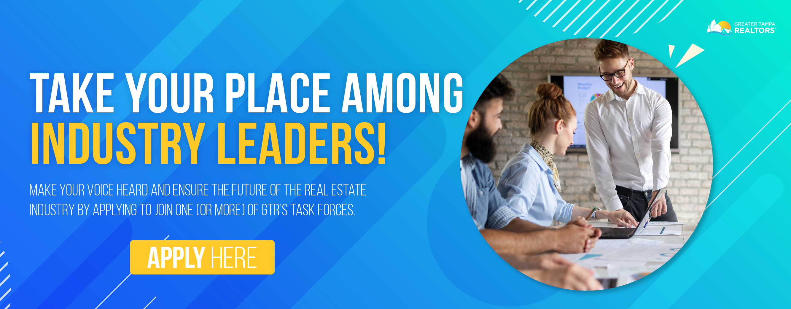 Make your voice heard and ensure the future of the real estate industry by applying to join one or more of GTR's Task Forces.